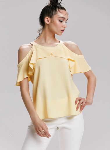 Love My Body Bluz Sarı